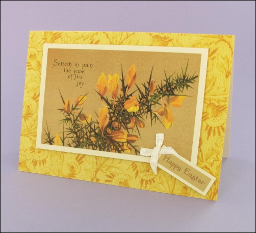 Project - Flowering Thorns Easter card