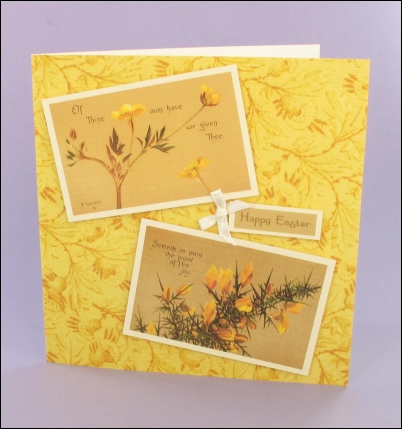 Project - Sentiments Yellow Easter card