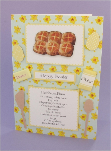 Project - Easter Hot Cross Buns card
