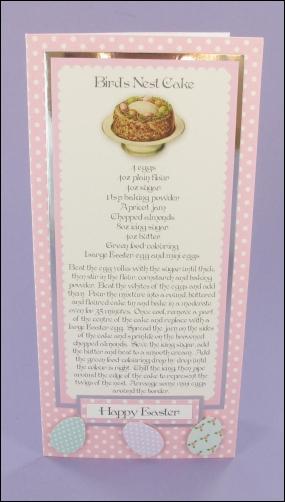 Project - Birds Nest Cake card