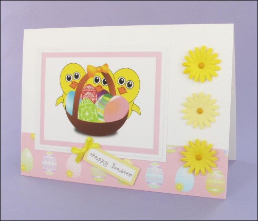 Project - Three Cheerful Chicks Easter card