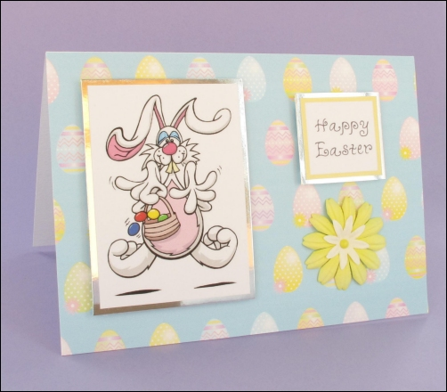 Project - Mad Bunny Easter card