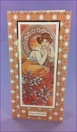 Project - Le Topaze Art Nouveau card