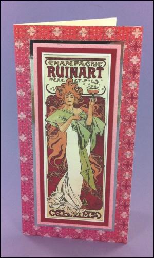 Project - Champagne Ruinart Art Nouveau card