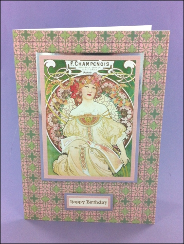 Project - F. Champenois Art Nouveau card
