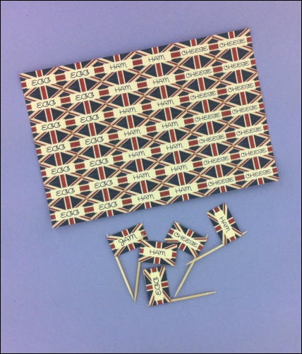 Project - Vintage Street Party Sandwich Flags