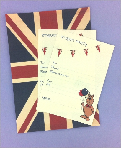 Project - Vintage Street Party A4 Flag & Invitations