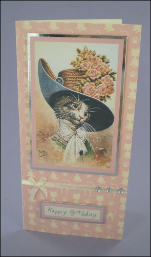 Project - My Fair Cat-Lady card