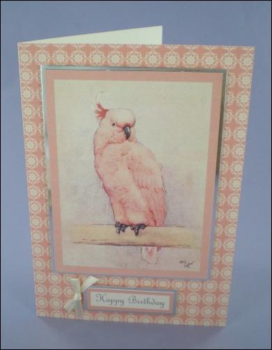 Project - Cecil Aldin Cockatoo card