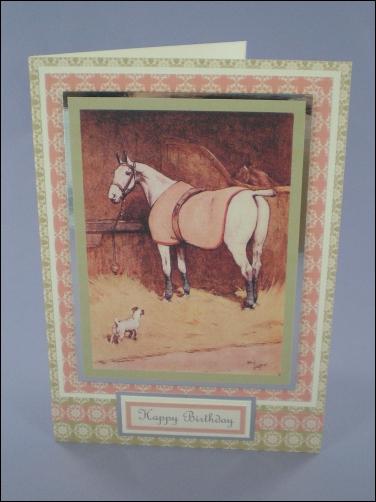 Project - Cecil Aldin Horse card