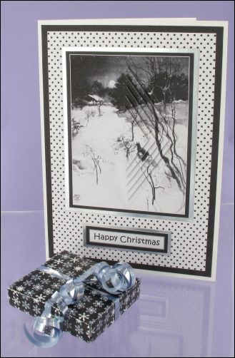 Project - Mono Diamond Pyramage Christmas card