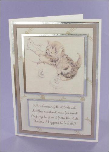 Project - Bad Cat card