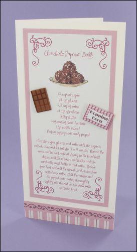 Project - Chocolate Popcorn Balls card