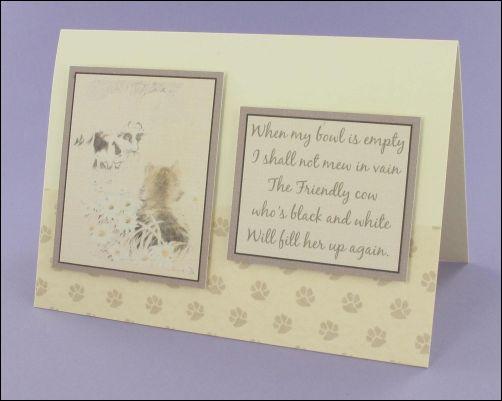 Project - Daisy & Kitty card