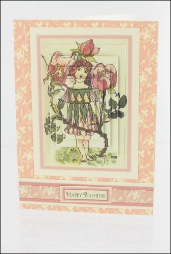 Project - Dog Rose Girl Card