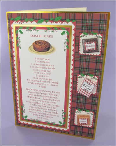 Project - Christmas Dundee Cake Recipe Card