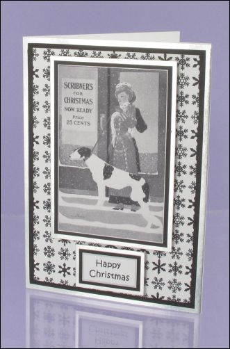 Project - Scribners Lady Mono Christmas card
