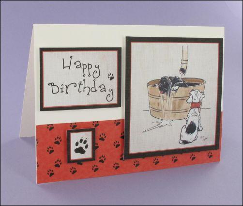 Project - Puppy Bathtime card