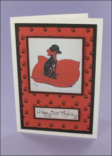 Project - Puppy Pillow card