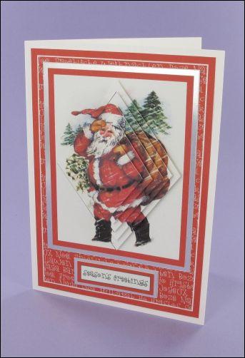 Project - Santa in Snow Diamond pyramage card