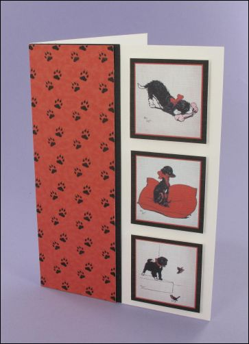 Project - Three Black Puppies card