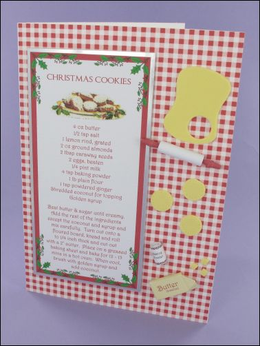 Project - Christmas Cookies Recipe Card