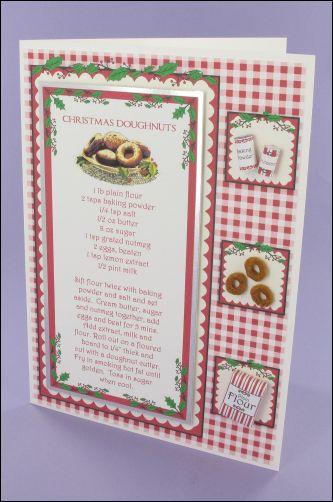 Project - Christmas Doughnuts Recipe Card