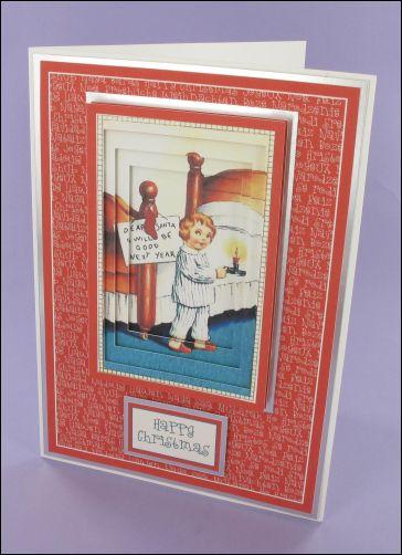 Project - Santa I will be Good Invertage card