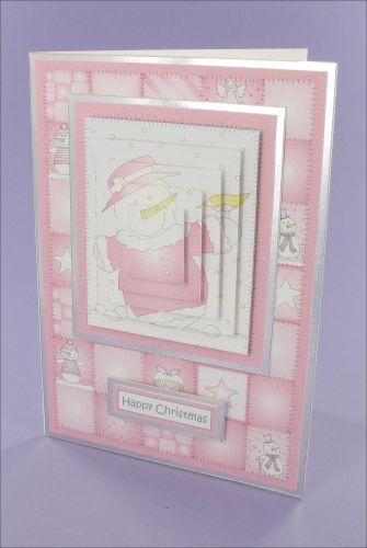 Project - Raspberry SnowMum Pyramage card