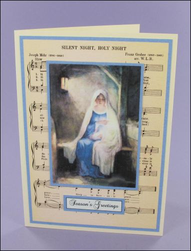 Project - Mary with baby Music card