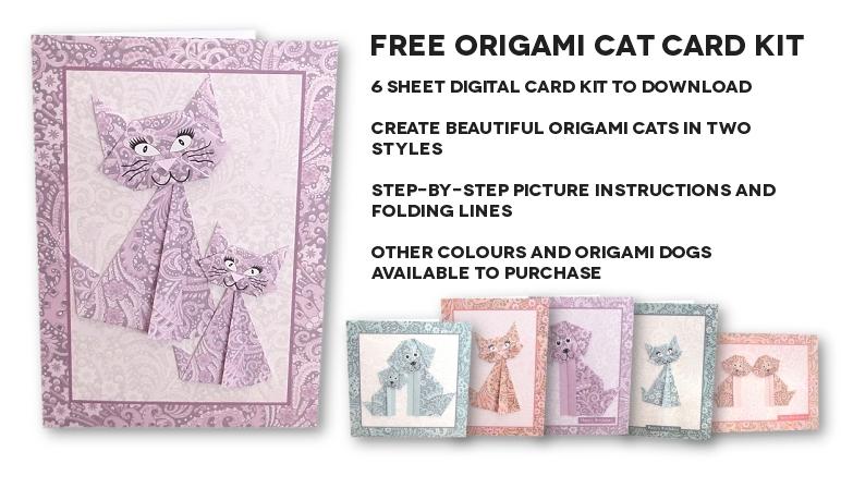 Free Origami Cat Card Kit